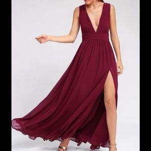Merlot colored Lulu's dress